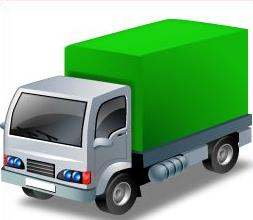 Free Delivery Trucks Clipart.