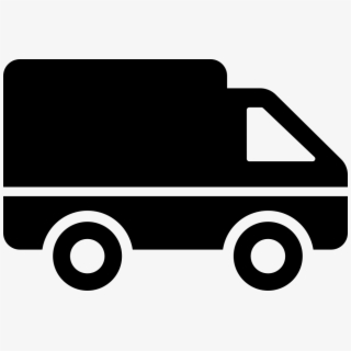 White Delivery Truck Icon , Transparent Cartoon, Free.
