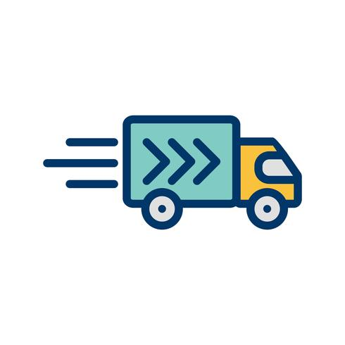 Vector Delivery Truck Icon.