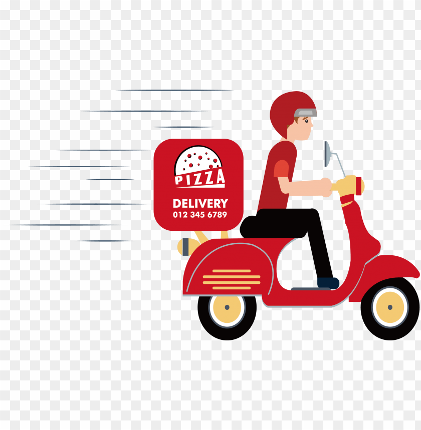 delivery clipart delivery scooter.