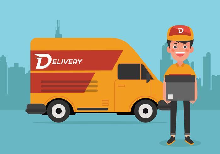 Vector Delivery Man.