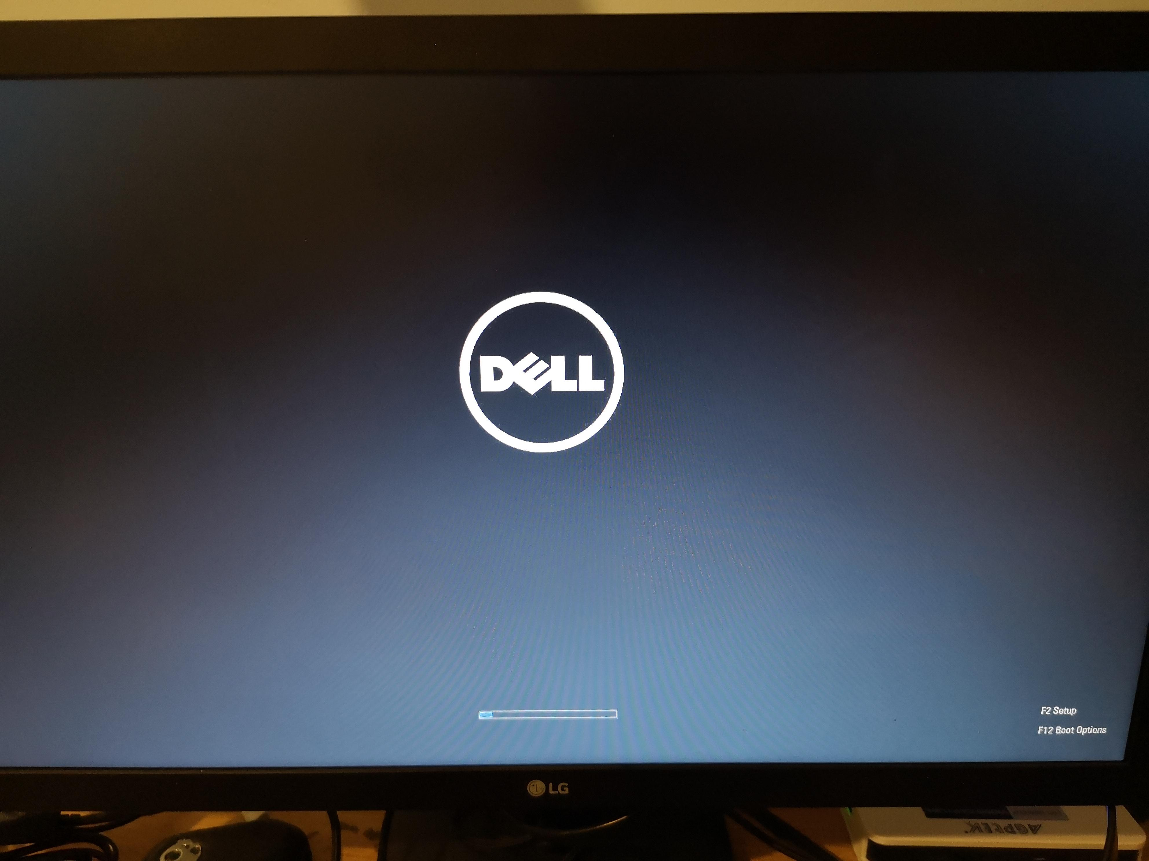 Dell laptop is stuck on this loading screen pls help (dell.