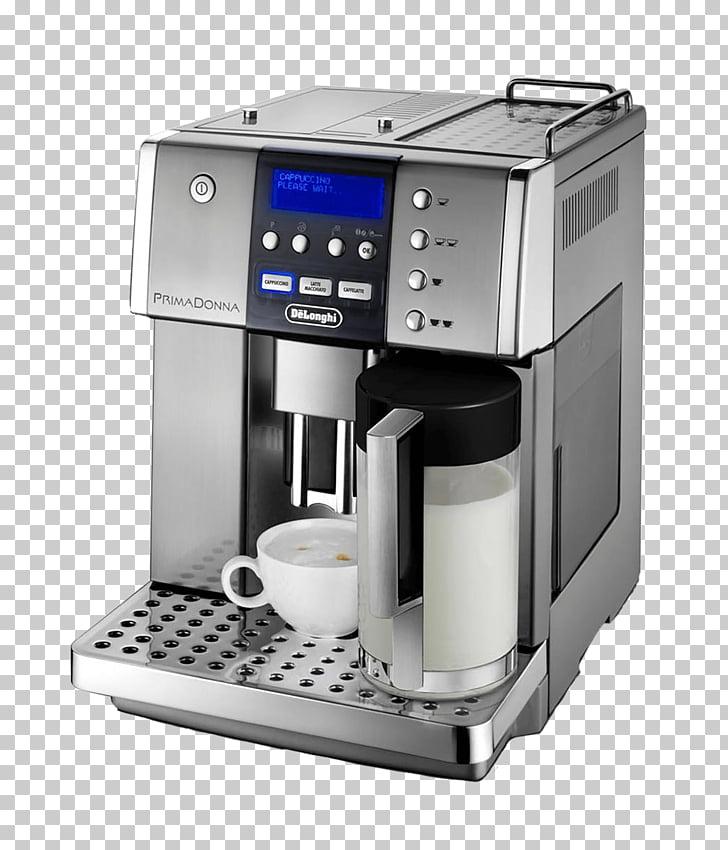Delonghi Prima Donna Coffee Machine, gray and black DeLonghi.