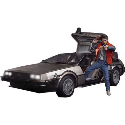 Delorean Front Back To The Future transparent PNG.