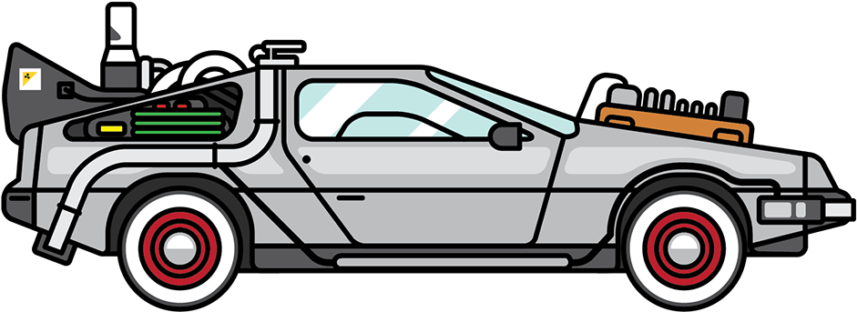 Back To The Future Delorean Clipart.