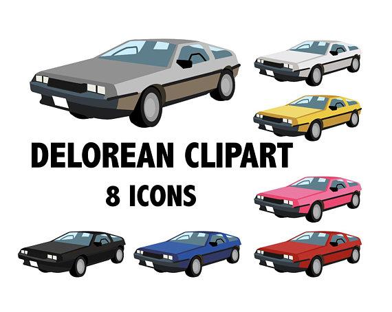 DELOREAN CLIPART.
