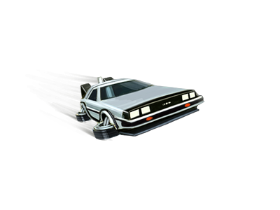 Delorean PNG.