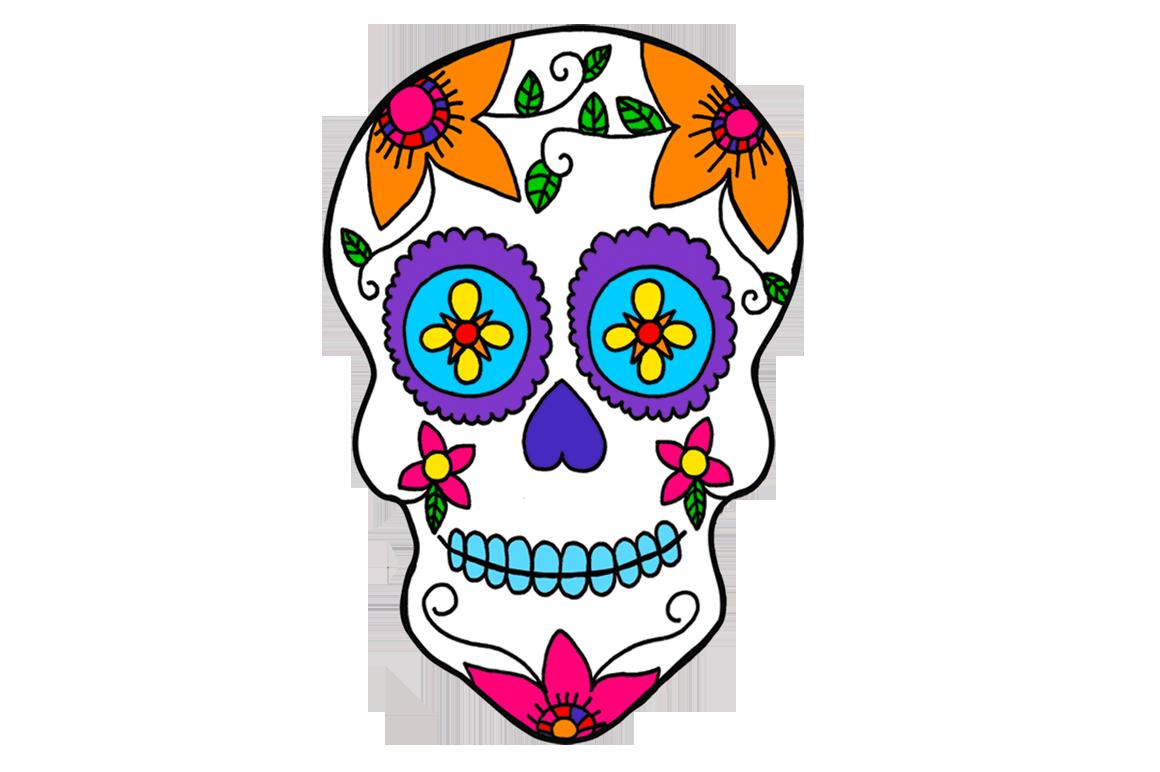 Mexico Day of the Dead Calavera Sugar Skulls Dia de los Muertos.