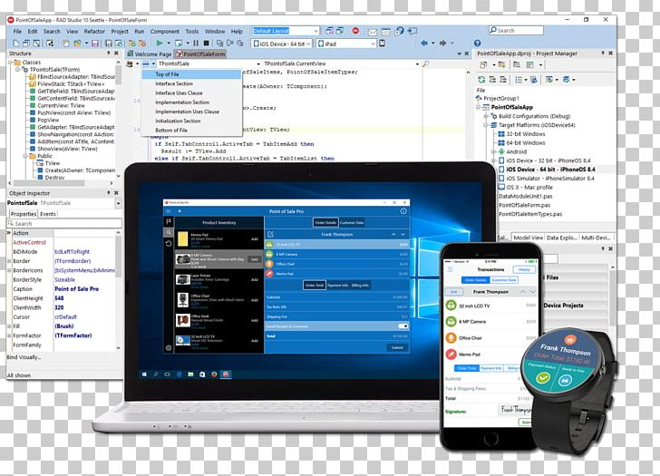 Delphi Embarcadero RAD Studio Visual Component Library C++.