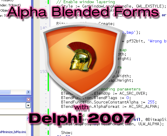Alpha Blended Splash Screen in Delphi.