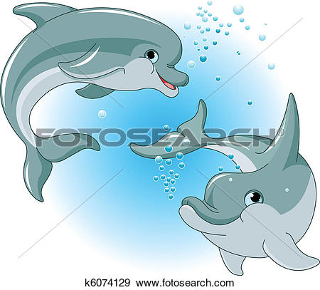 Clipart of Dolphin Mascot k9282970.