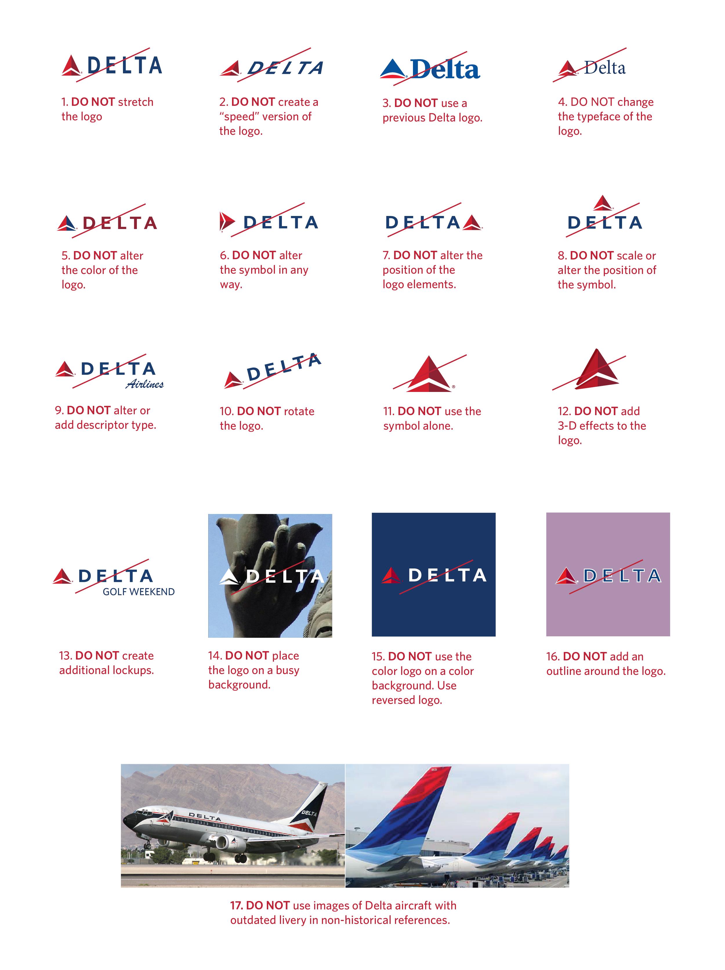 Delta Logos & Brand Guidelines.