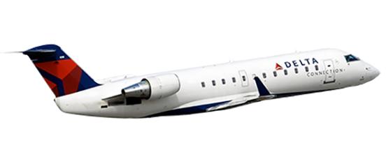 Delta Plane Clipart.