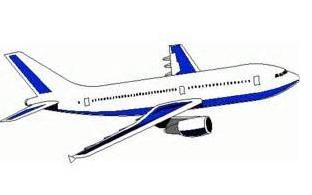 Delta Airplane Clipart.