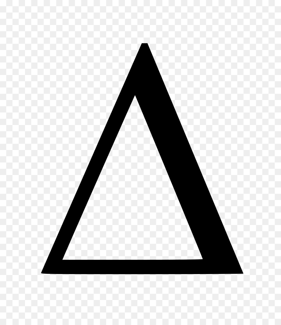 Black Triangle png download.