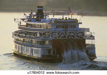 Stock Photo of The Delta Queen, steamboat u17854012.
