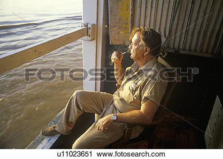 Stock Photography of Chief engineer on the Delta Queen u11023651.