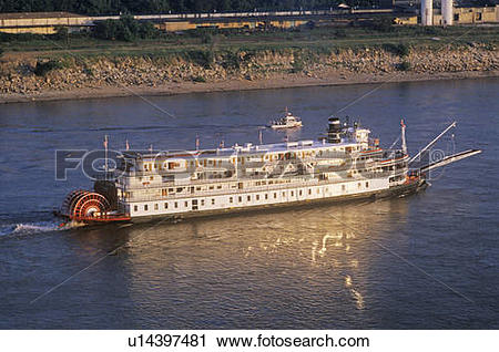 Stock Photography of The Delta Queen, a relic of the steamboat era.