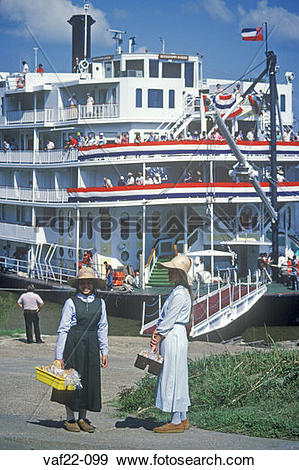 Stock Photograph of The Delta Queen, a relic of the steamboat era.