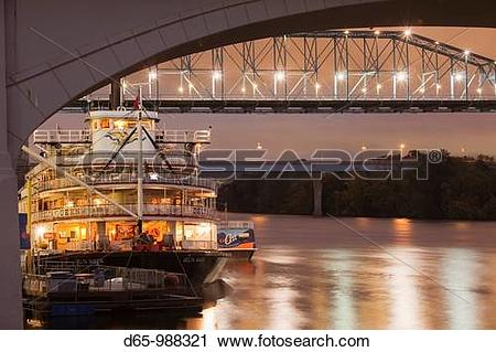 Stock Photography of USA, Tennessee, Chattanooga, Delta Queen.