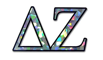 DZ Delta Zeta Sorority Reflective Decal Sticker.