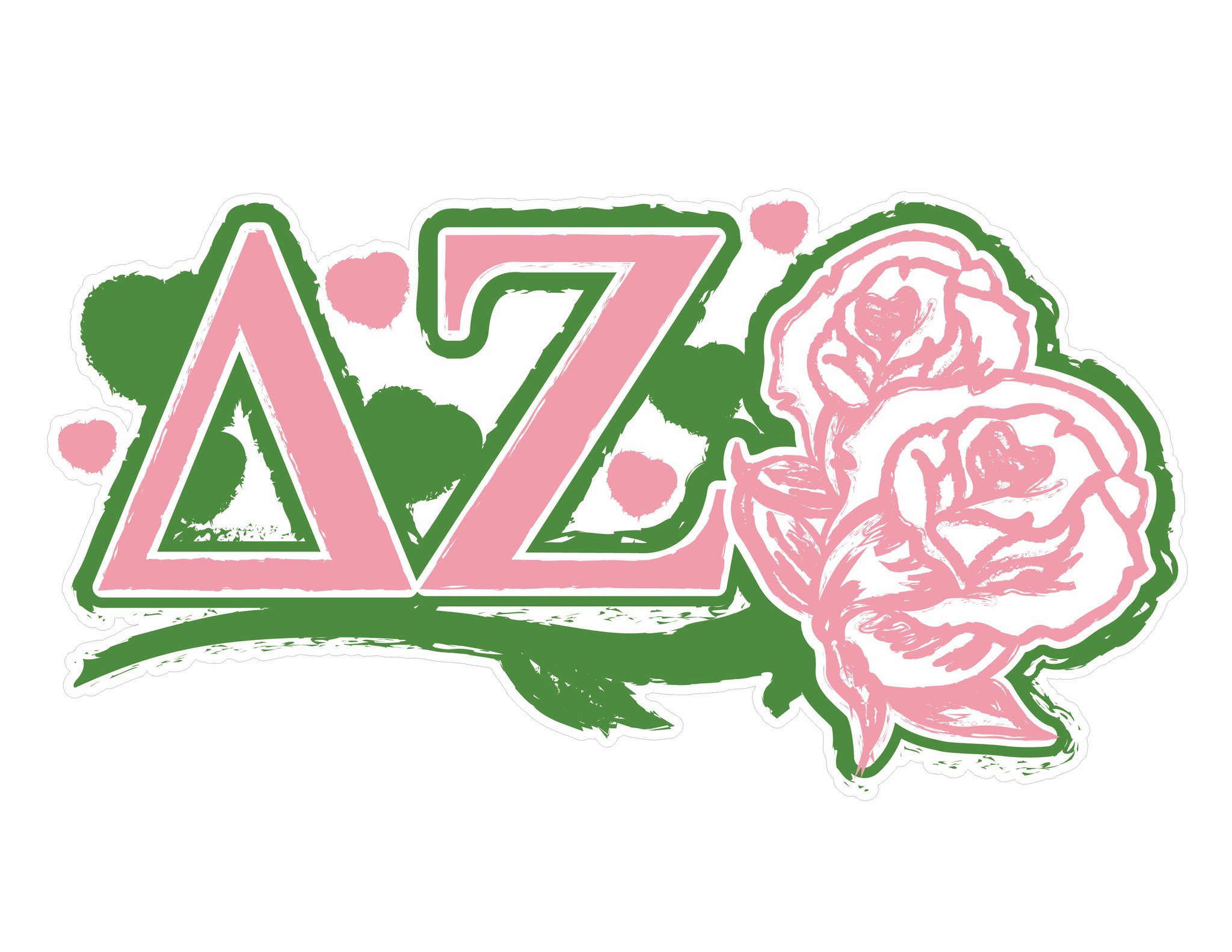 Delta Zeta 11.75 x 6 Laptop Skin/Wall Decal.
