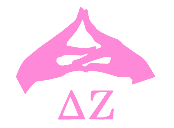 Delta Zeta Hand Sign Decal.
