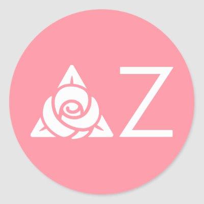 Delta Zeta Rose Icon White Napkin.