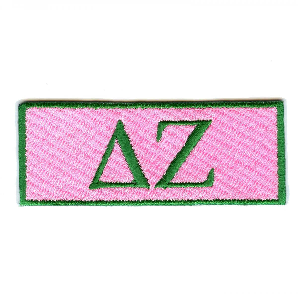 Delta Zeta Sorority Box Logo Iron On Patch.