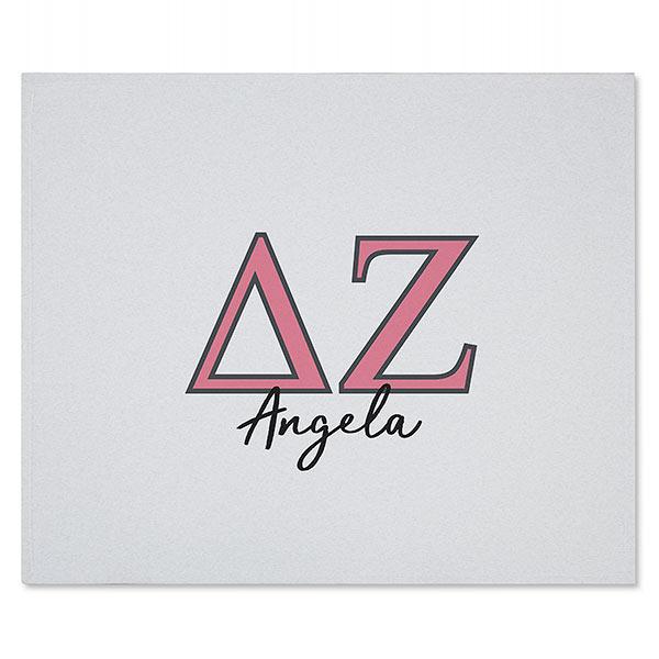 Delta Zeta Personalized Greek Letter Sweatshirt Blanket.