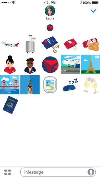 Delta Travel Stickers on the App Store.