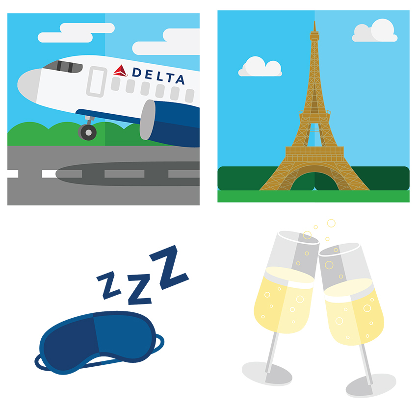 Taking texting to new heights: Delta launches travel.