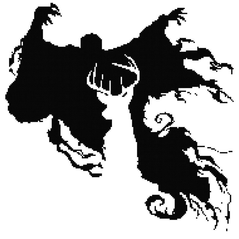 The Stag and Dementor Cross Stitch Pattern (PDF).