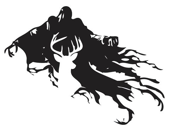 Harry Potter Stag Patronus and Dementor Silhouette Design! Get it as.