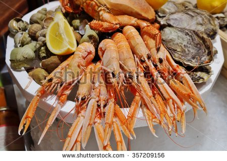 Clipart plateau fruits de mer.