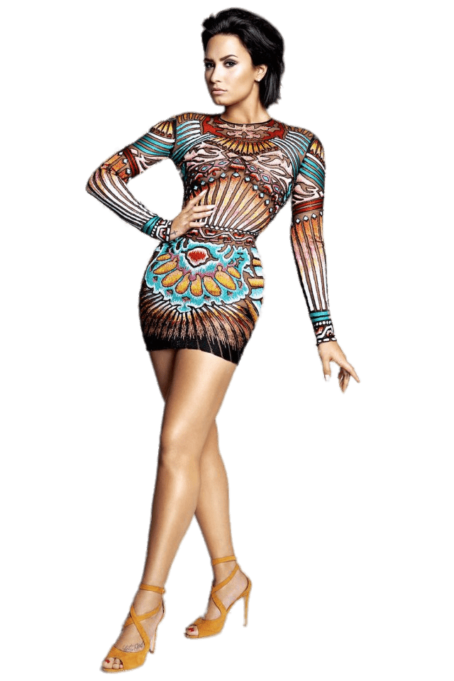 Demi Lovato Posing transparent PNG.