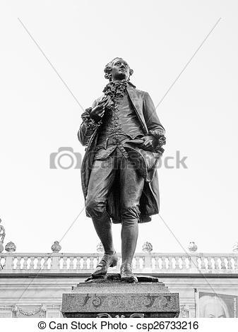 Stock Photography of Goethe Denkmal Leipzig.