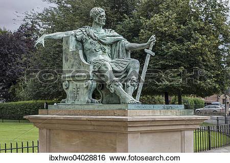 Stock Images of Denkmal, Kaiser Konstantin der Grosse, vor dem.