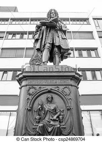 Stock Photography of Leibniz Denkmal Leipzig.
