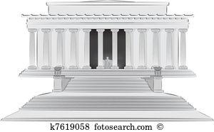 Lincoln denkmal Clipart Lizenzfrei. 78 lincoln denkmal Clip Art.