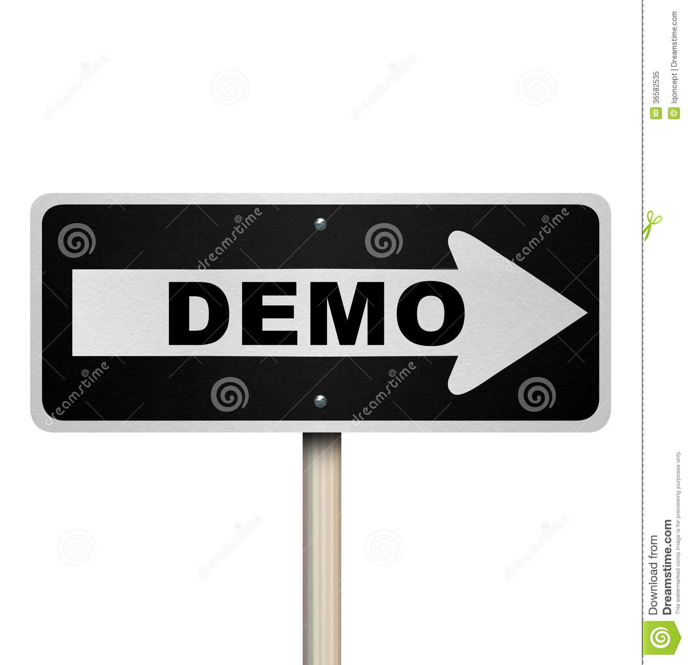 Product Demonstration Clipart.