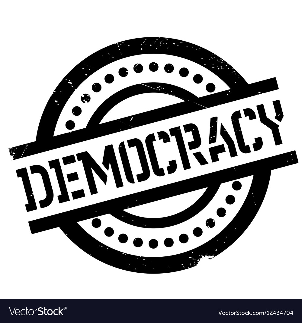 Democracy rubber stamp.
