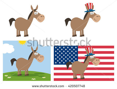 Democrat Donkey Stock Images, Royalty.