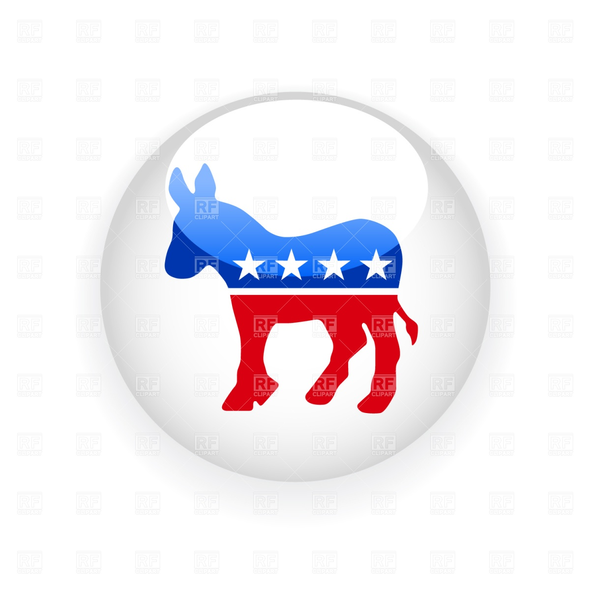 Democratic donkey symbol Stock Vector Image.