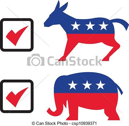 Democrat And Republican Clipart.