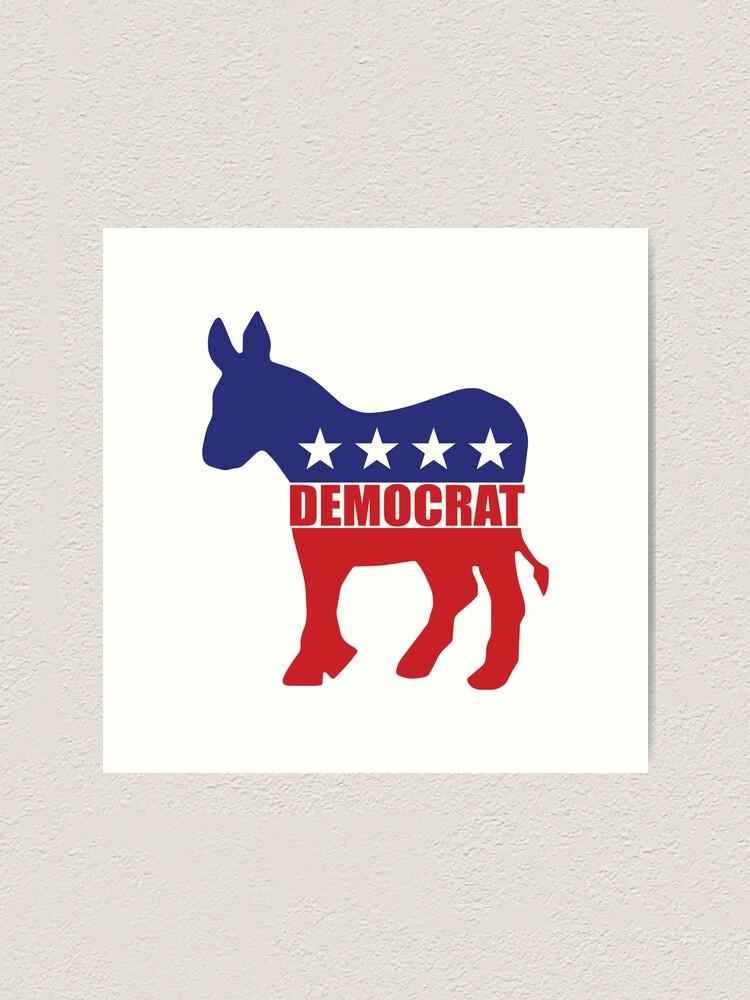 Democrat Donkey Logo.