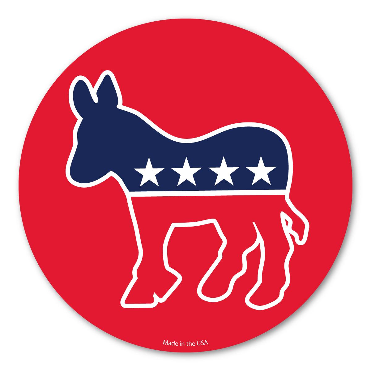 Democrat Donkey Circle Magnet.