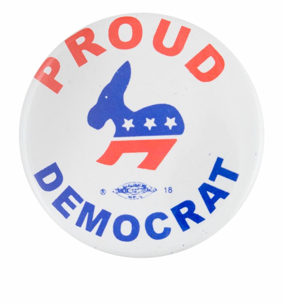Proud Democrat Political Button Museum Free PNG Images & Clipart.