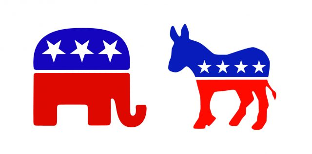 Democrats and Republicans: two parties for a country.
