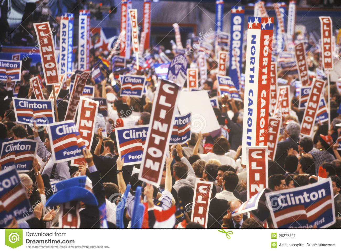 Democratic National Convention Editorial Photo.
